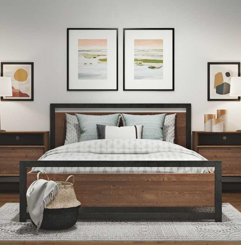Modern, Industrial, Midcentury Modern Bedroom Design by Havenly Interior Designer Aubrey