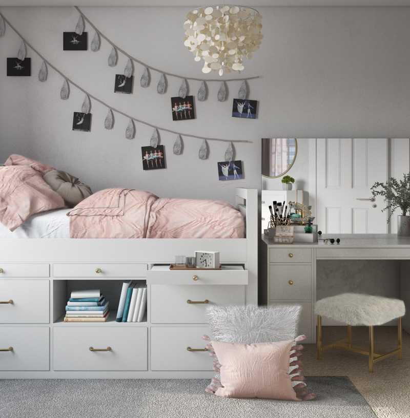 Glam Bedroom Design by Havenly Interior Designer Kacie