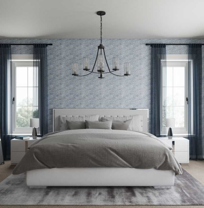 Contemporary, Midcentury Modern Bedroom Design by Havenly Interior Designer Julie