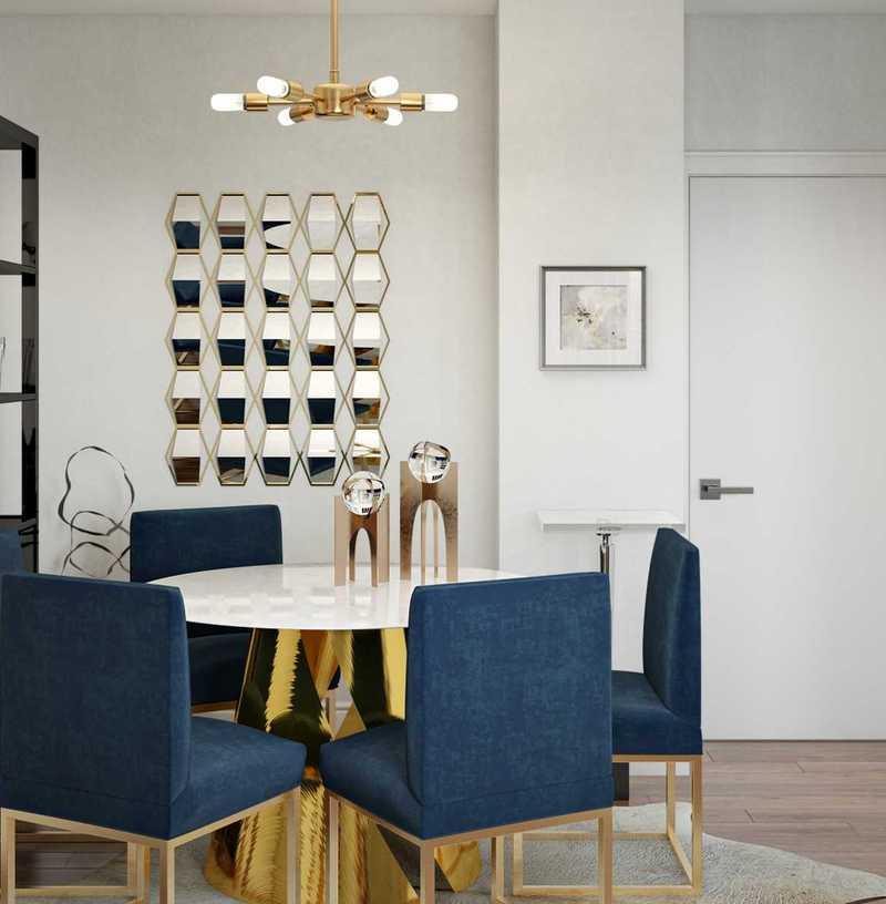 Contemporary, Glam, Minimal Living Room Design by Havenly Interior Designer Samantha