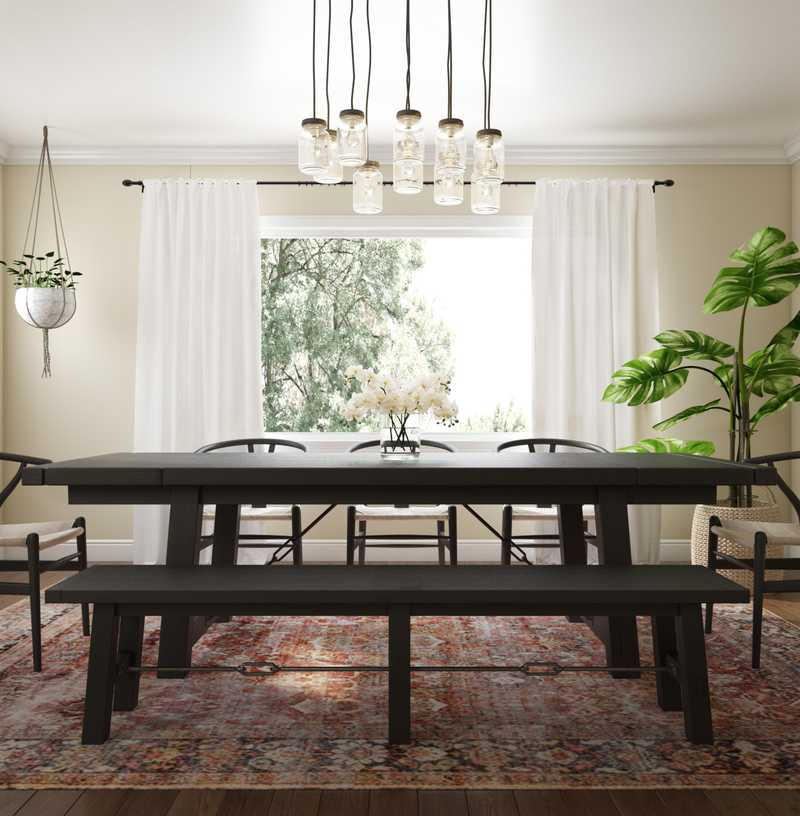 Bohemian Dining Room Design by Havenly Interior Designer Chelsey