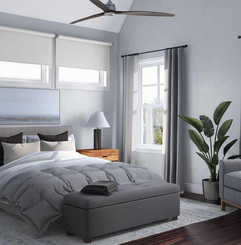 Industrial, Midcentury Modern, Scandinavian Bedroom Design by Havenly Interior Designer Carla