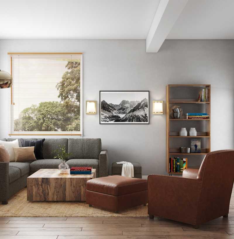 Bohemian, Farmhouse Living Room Design by Havenly Interior Designer Camila