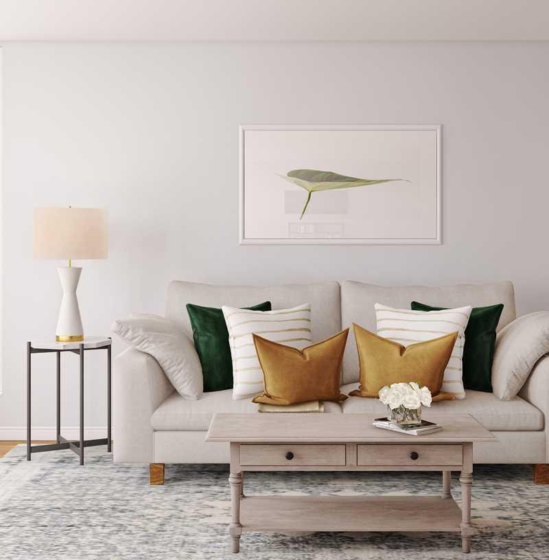Modern, Classic Living Room Design by Havenly Interior Designer Britney