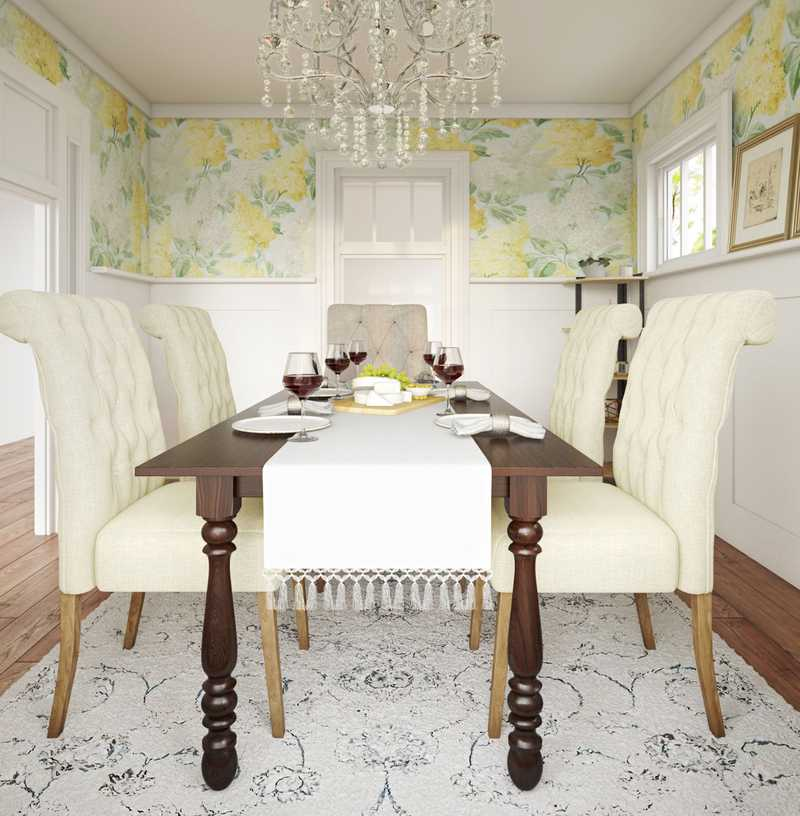 Classic, Traditional Dining Room Design by Havenly Interior Designer Anna