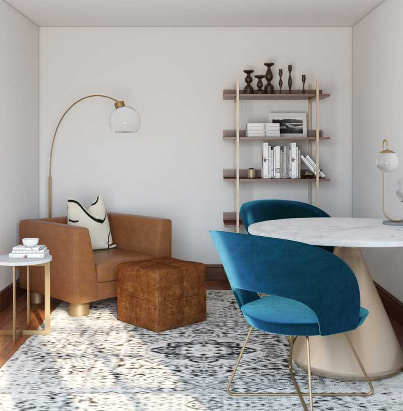 Modern, Glam, Minimal Office Design by Havenly Interior Designer Andrea