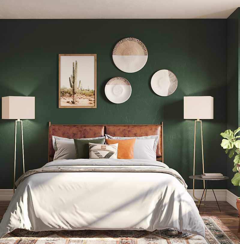 Bohemian, Global, Midcentury Modern, Scandinavian Bedroom Design by Havenly Interior Designer Brit