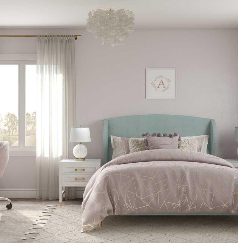 Modern, Preppy Bedroom Design by Havenly Interior Designer Fendy
