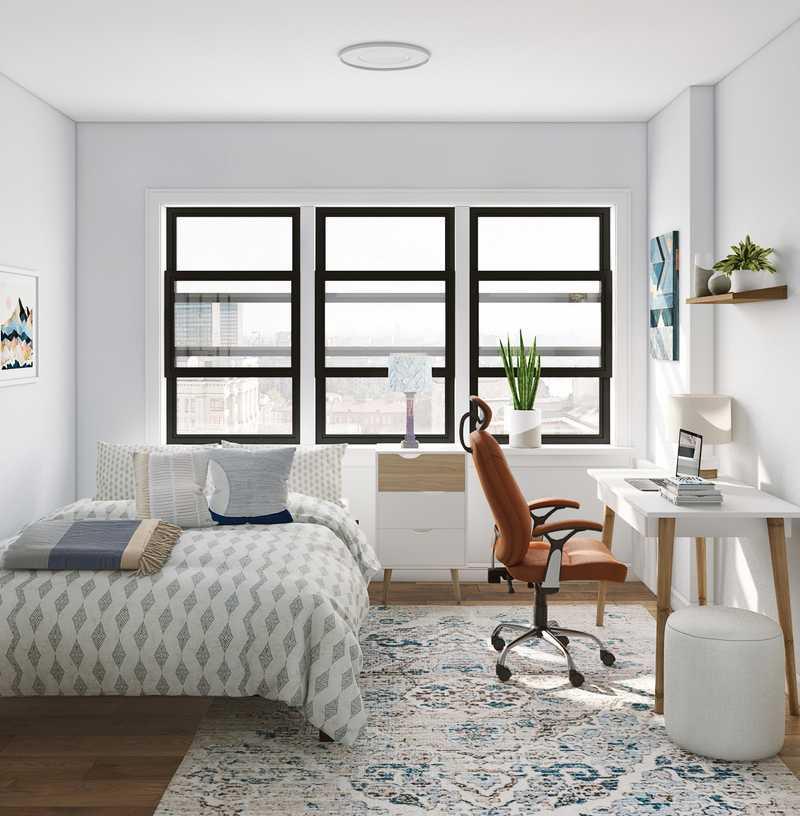 Midcentury Modern, Scandinavian Office Design by Havenly Interior Designer Michelle