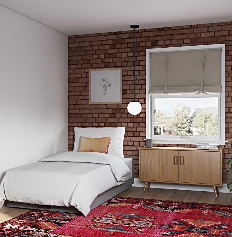 Bohemian, Midcentury Modern Bedroom Design by Havenly Interior Designer Lauren