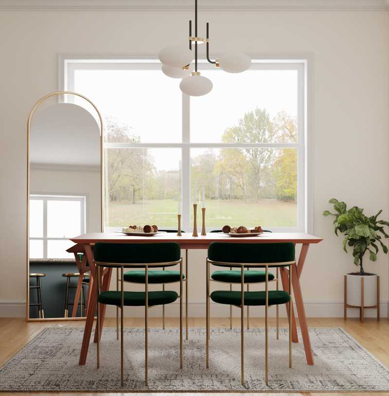Eclectic, Midcentury Modern Dining Room Design by Havenly Interior Designer Bella