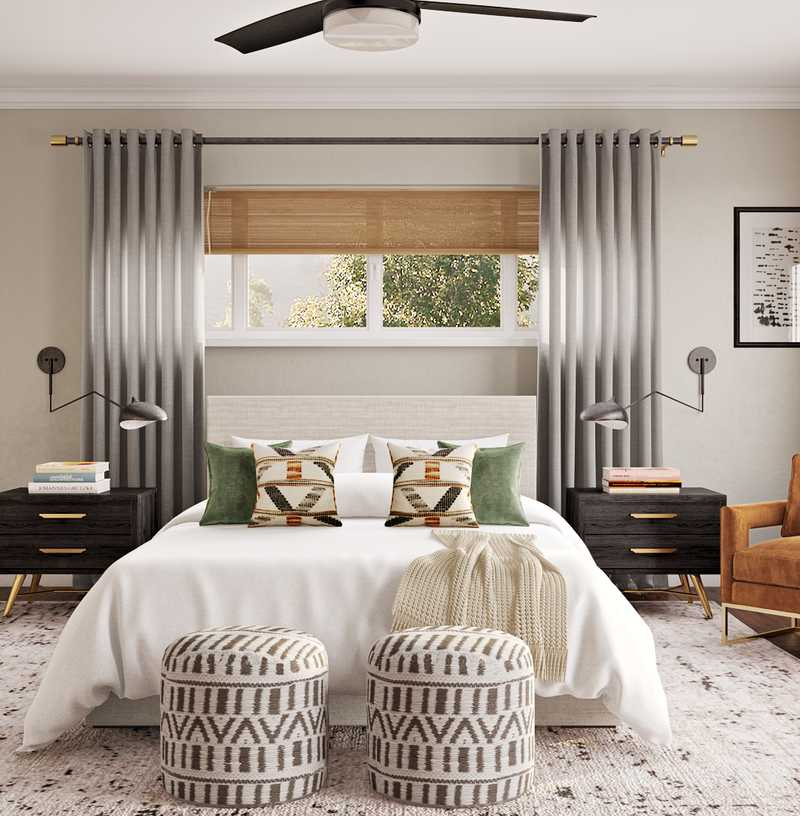 Eclectic, Bohemian, Midcentury Modern, Scandinavian Bedroom Design by Havenly Interior Designer Jessica