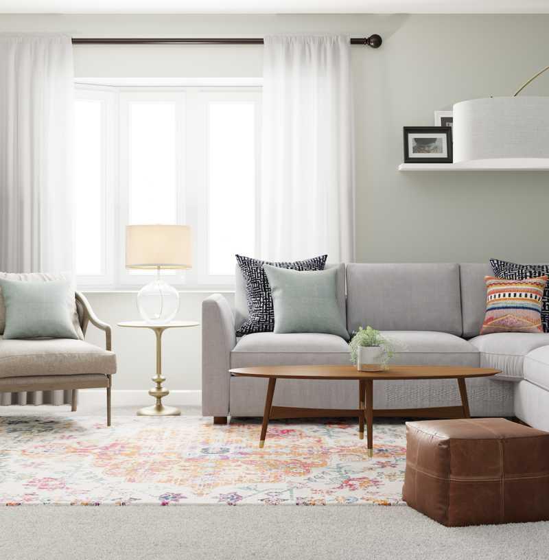 Eclectic Living Room Design by Havenly Interior Designer Jessica