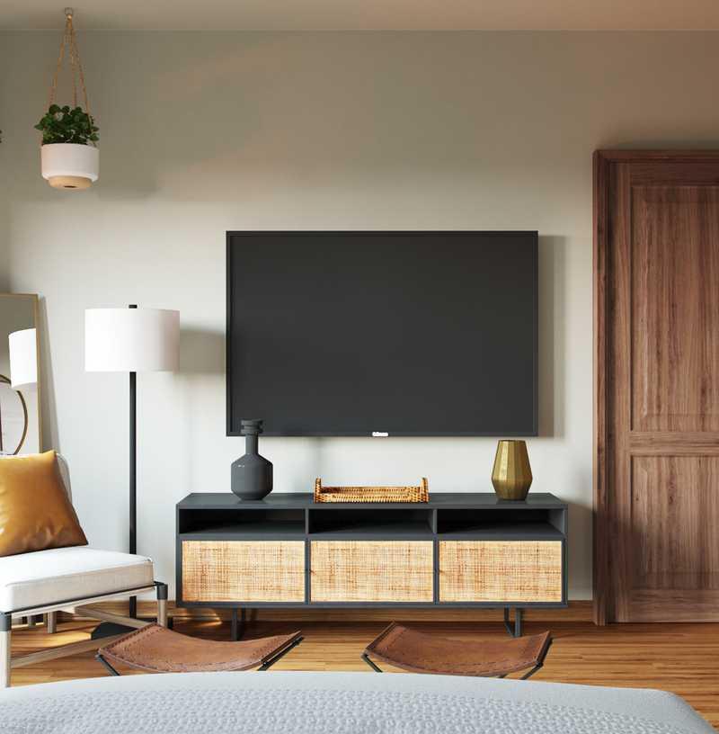 Bohemian, Farmhouse, Southwest Inspired Bedroom Design by Havenly Interior Designer Brittney