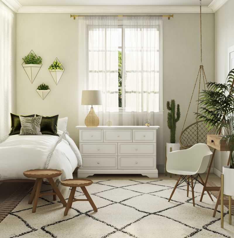 Modern, Bohemian Bedroom Design by Havenly Interior Designer Morgan
