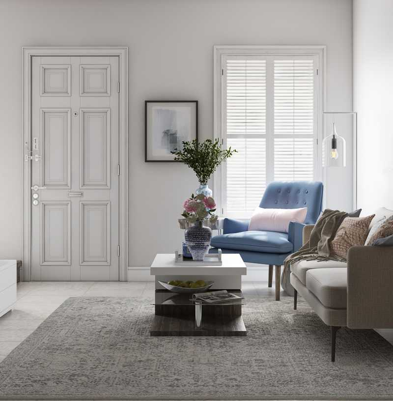Bohemian, Glam Living Room Design by Havenly Interior Designer Natalie