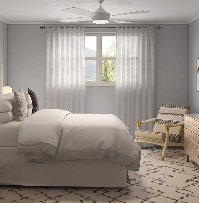 Modern, Minimal Bedroom Design by Havenly Interior Designer Ryan