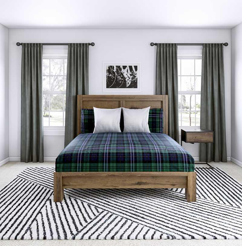Industrial Bedroom Design by Havenly Interior Designer Brianna