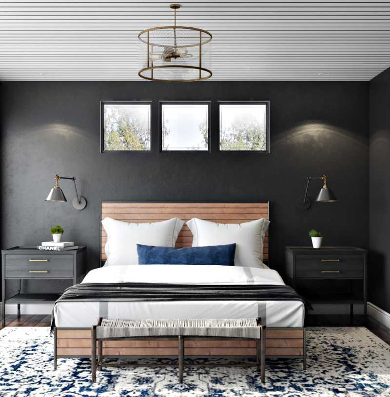Industrial, Rustic, Transitional Bedroom Design by Havenly Interior Designer Stacy