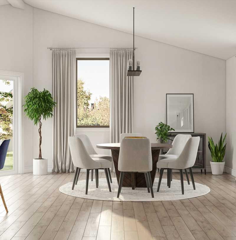 Contemporary, Modern, Glam Dining Room Design by Havenly Interior Designer Lisa