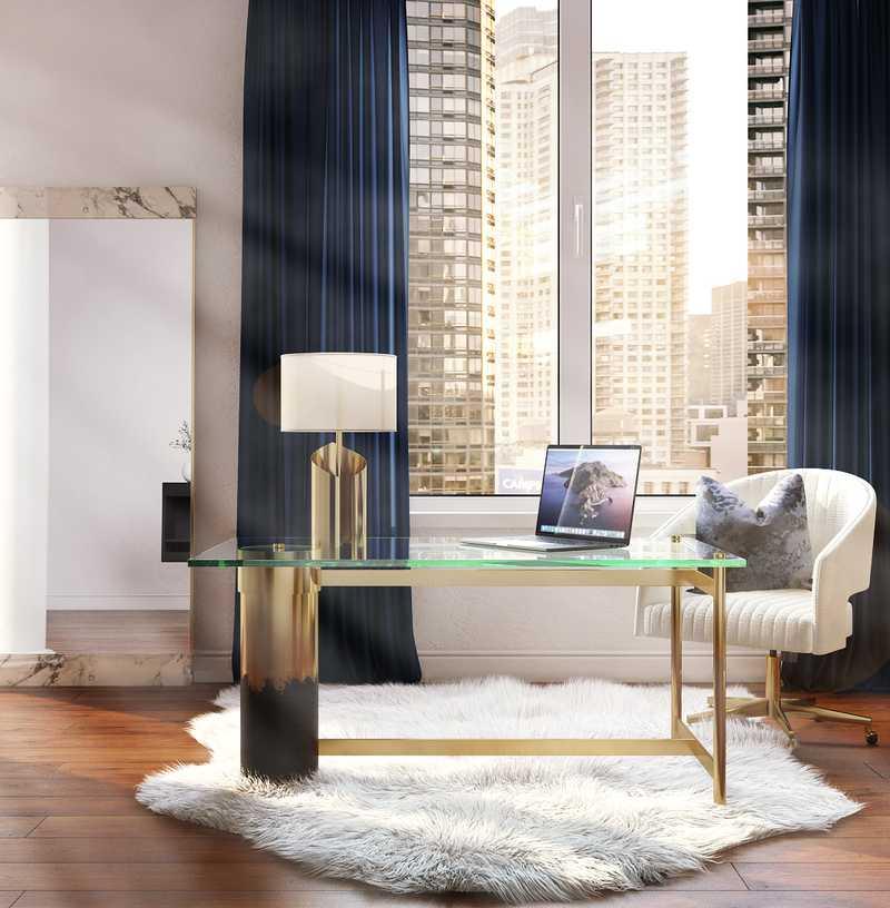 Modern, Glam Dining Room Design by Havenly Interior Designer Pradnya