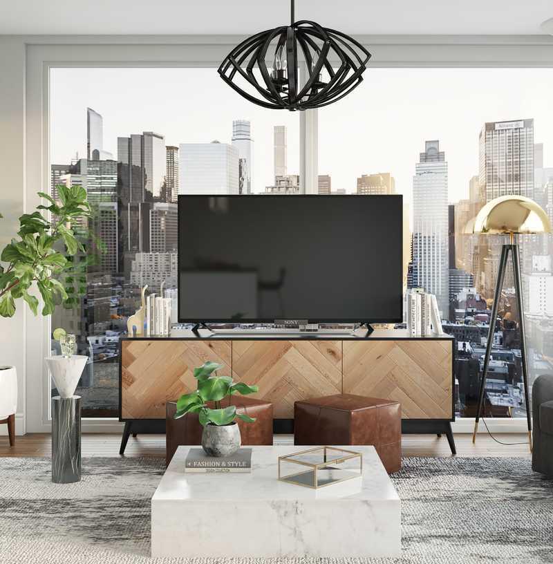 Modern, Glam, Minimal Living Room Design by Havenly Interior Designer Pradnya