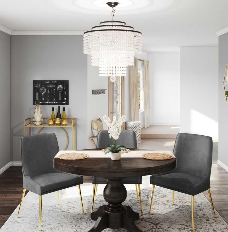 Glam Dining Room Design by Havenly Interior Designer Chelsea