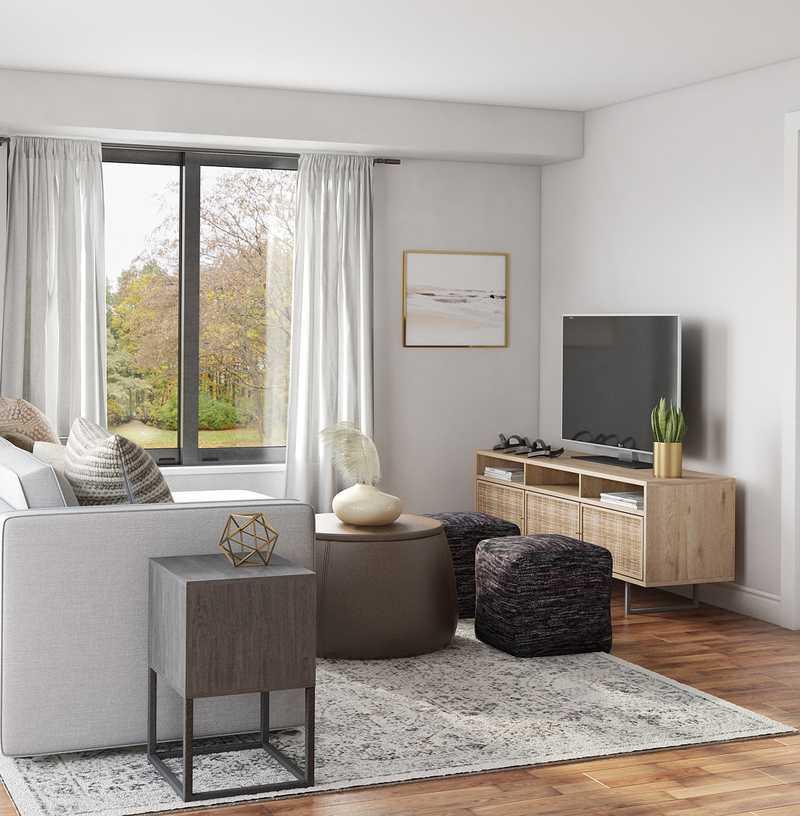 Modern, Transitional Living Room Design by Havenly Interior Designer Brenna