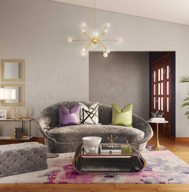 Contemporary, Eclectic, Glam Living Room Design by Havenly Interior Designer Kaitlin