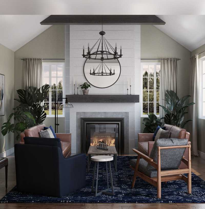 Farmhouse, Transitional Living Room Design by Havenly Interior Designer Stacy