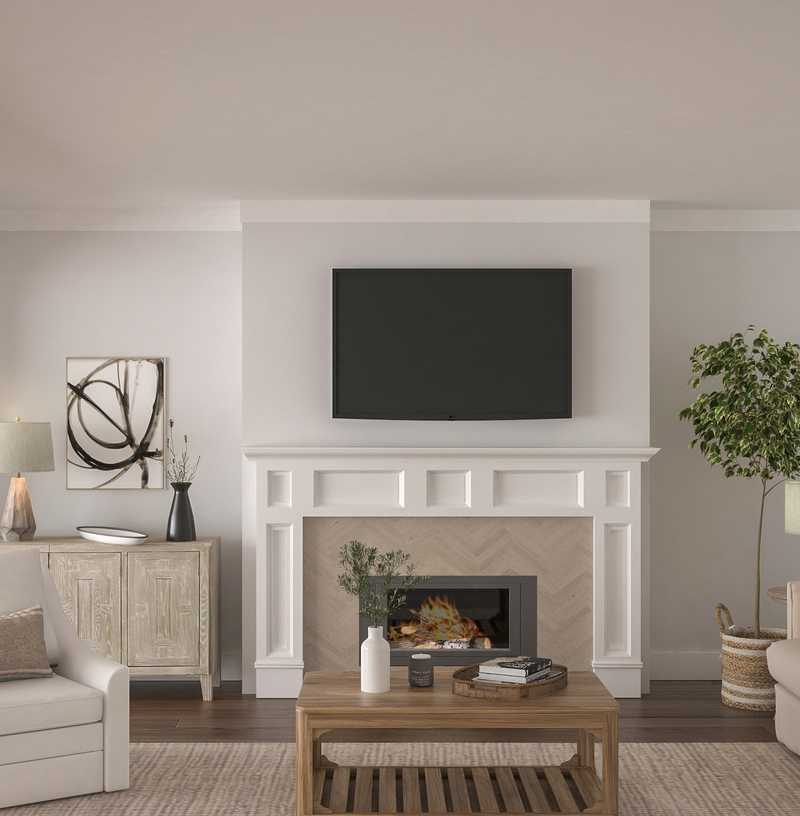 Farmhouse Living Room Design by Havenly Interior Designer Stephanie