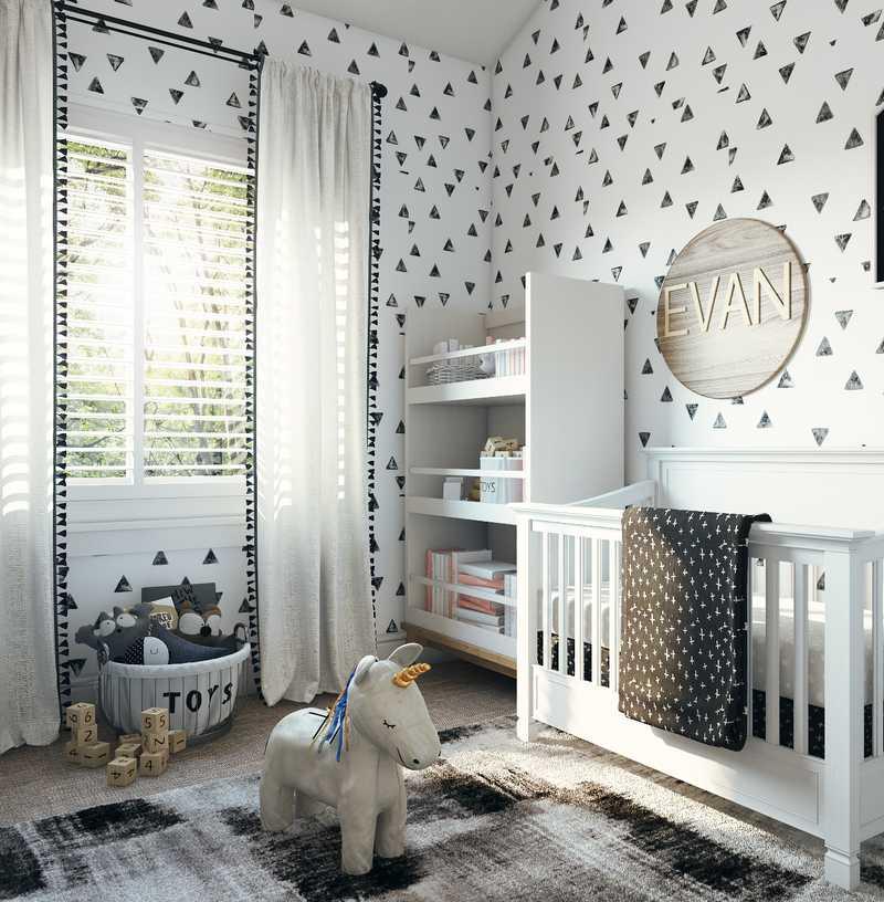 Modern, Minimal Nursery Design by Havenly Interior Designer Taylor