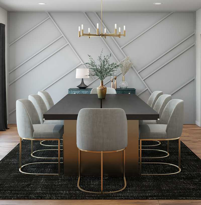 Contemporary, Modern Dining Room Design by Havenly Interior Designer Morgan