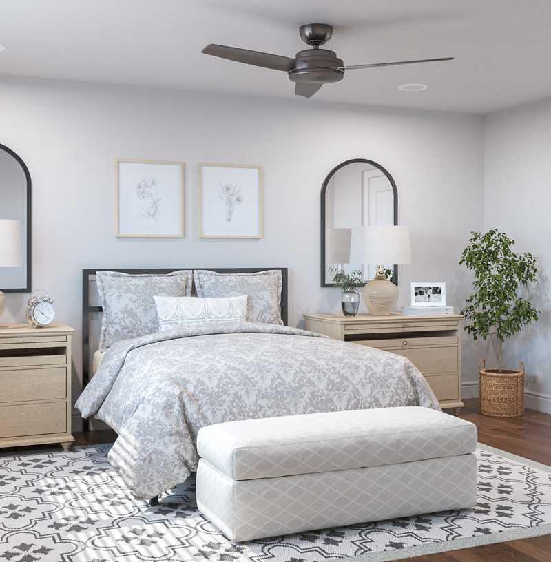 Classic, Coastal Bedroom Design by Havenly Interior Designer Kelsey