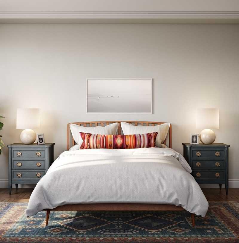 Eclectic, Bohemian, Midcentury Modern Bedroom Design by Havenly Interior Designer Ella