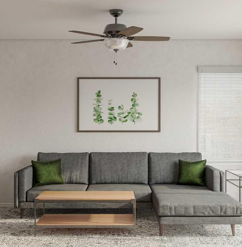 Modern, Farmhouse Living Room Design by Havenly Interior Designer Sawyer