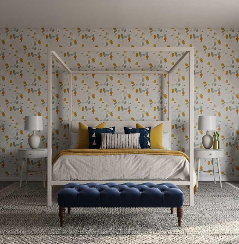 Modern, Bohemian, Farmhouse Bedroom Design by Havenly Interior Designer Alicia