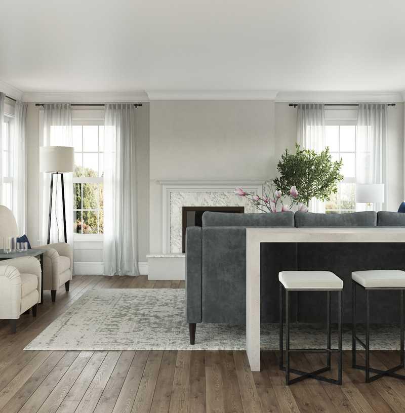 Glam Living Room Design by Havenly Interior Designer Brittani