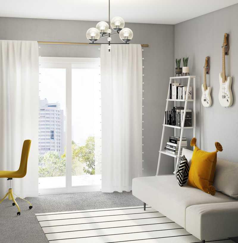 Modern, Bohemian Office Design by Havenly Interior Designer Abi