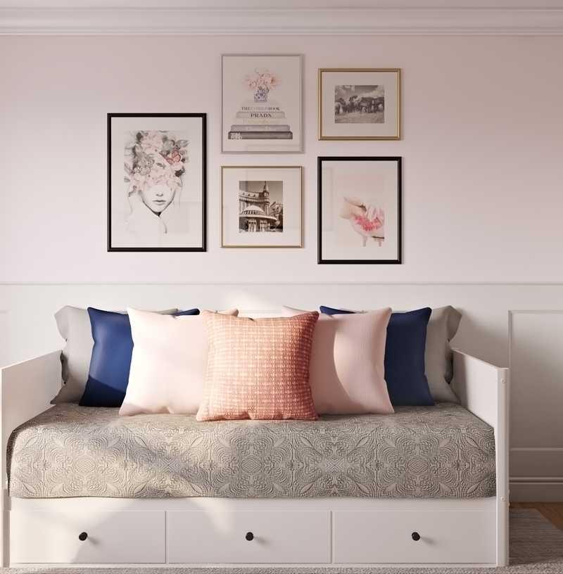 Classic, Glam, Rustic Office Design by Havenly Interior Designer Amanda