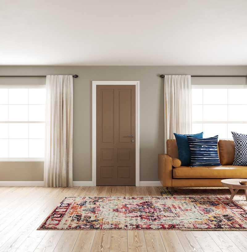 Eclectic, Midcentury Modern, Scandinavian Living Room Design by Havenly Interior Designer Robyn