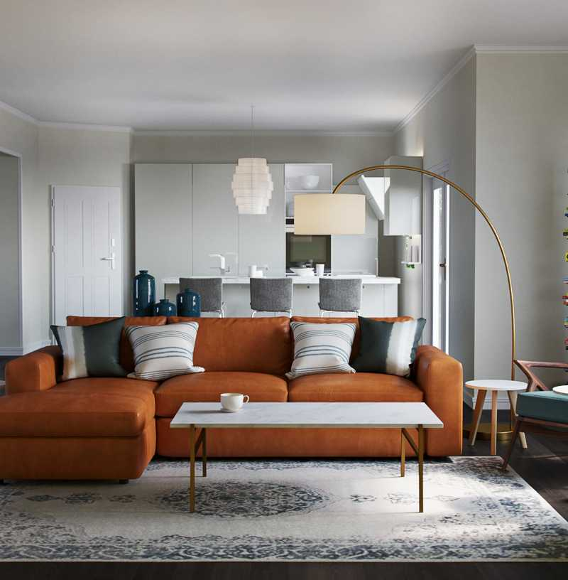 Eclectic, Minimal Living Room Design by Havenly Interior Designer Kyla