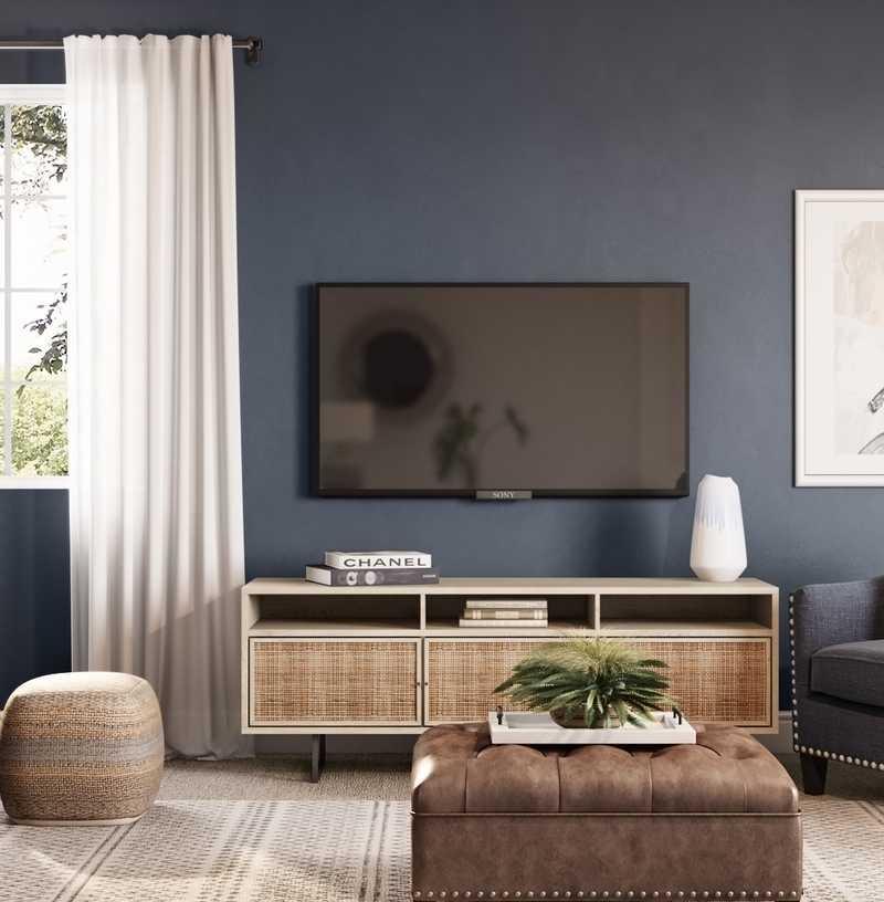 Classic, Glam, Rustic, Preppy Living Room Design by Havenly Interior Designer Amanda