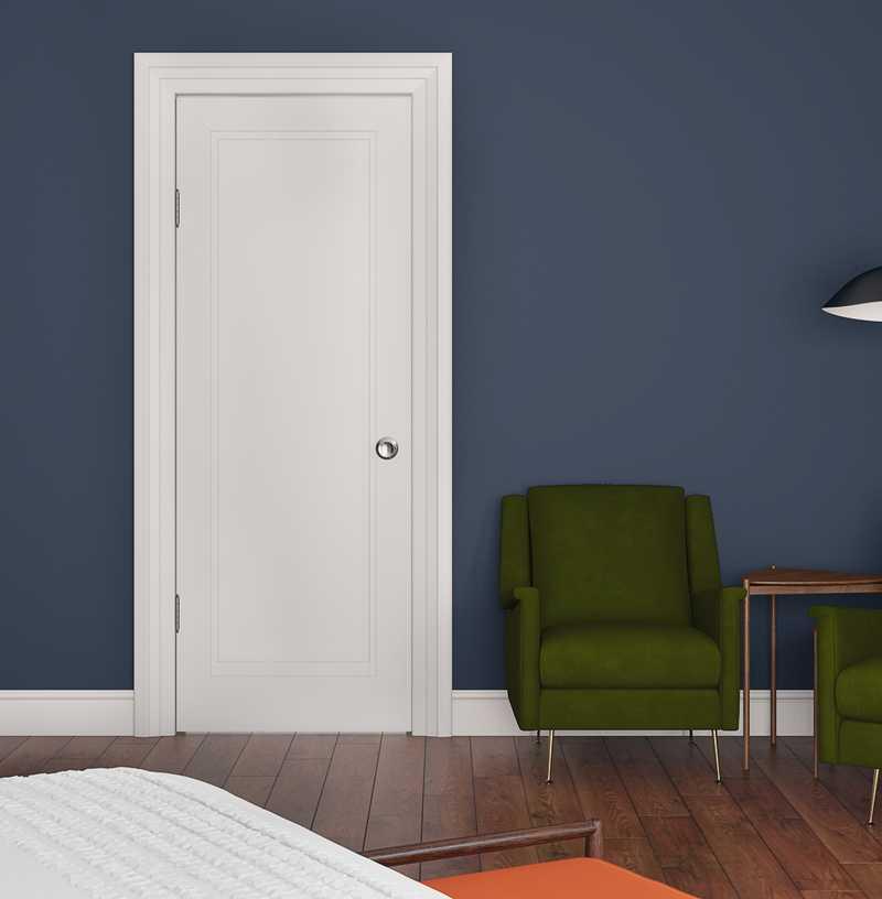 Bohemian, Glam, Midcentury Modern Bedroom Design by Havenly Interior Designer Areeba