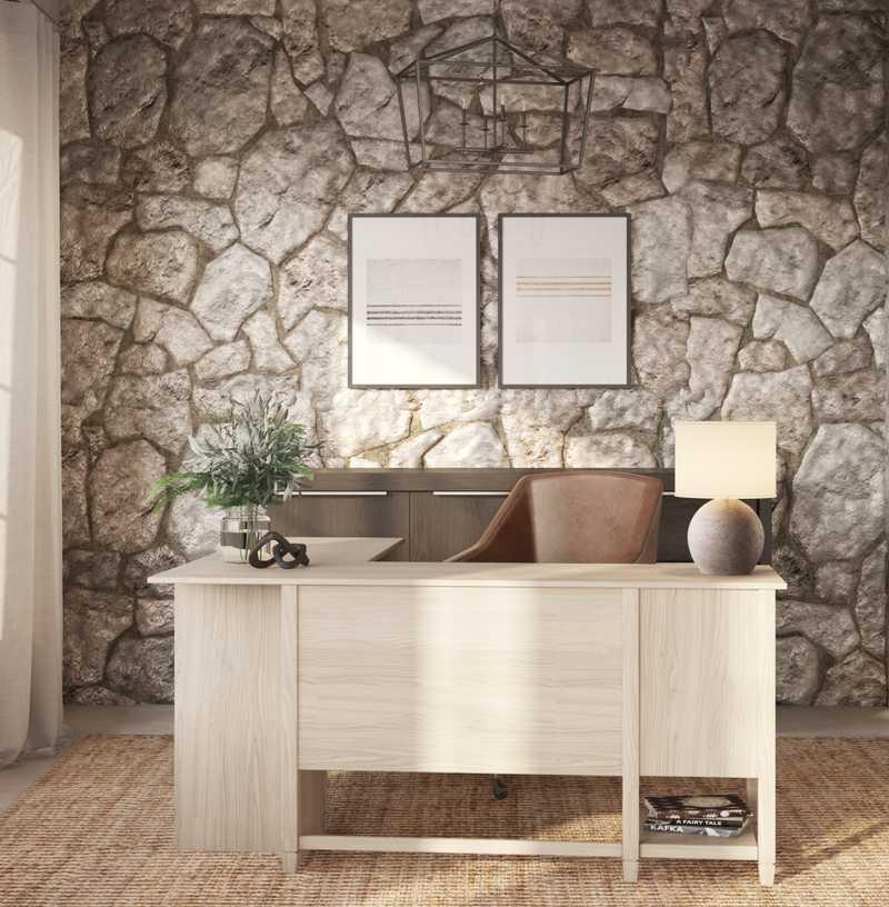 Modern, Farmhouse Office Design by Havenly Interior Designer Laura