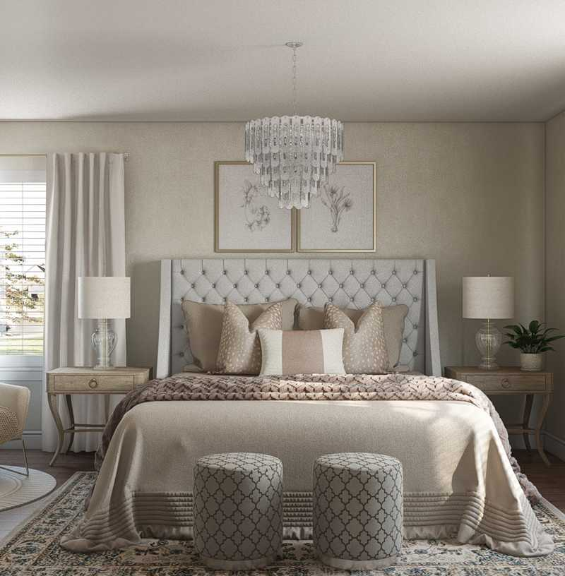 Classic, Coastal, Glam, Traditional Bedroom Design by Havenly Interior Designer Emily