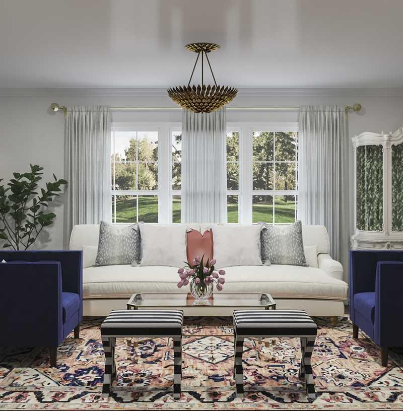 Contemporary, Modern, Global Living Room Design by Havenly Interior Designer Dani
