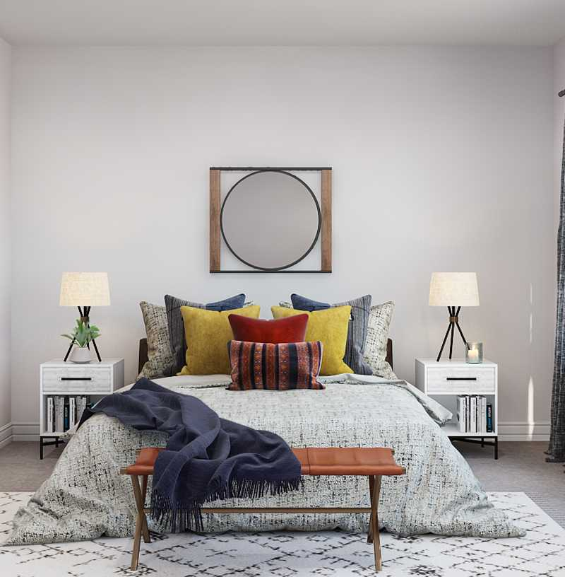 Contemporary, Eclectic, Bohemian Bedroom Design by Havenly Interior Designer Ariel