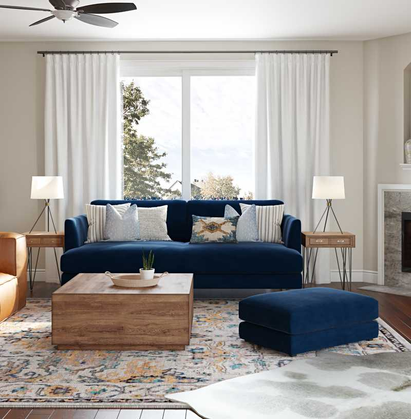 Contemporary, Classic, Traditional Living Room Design by Havenly Interior Designer Britney