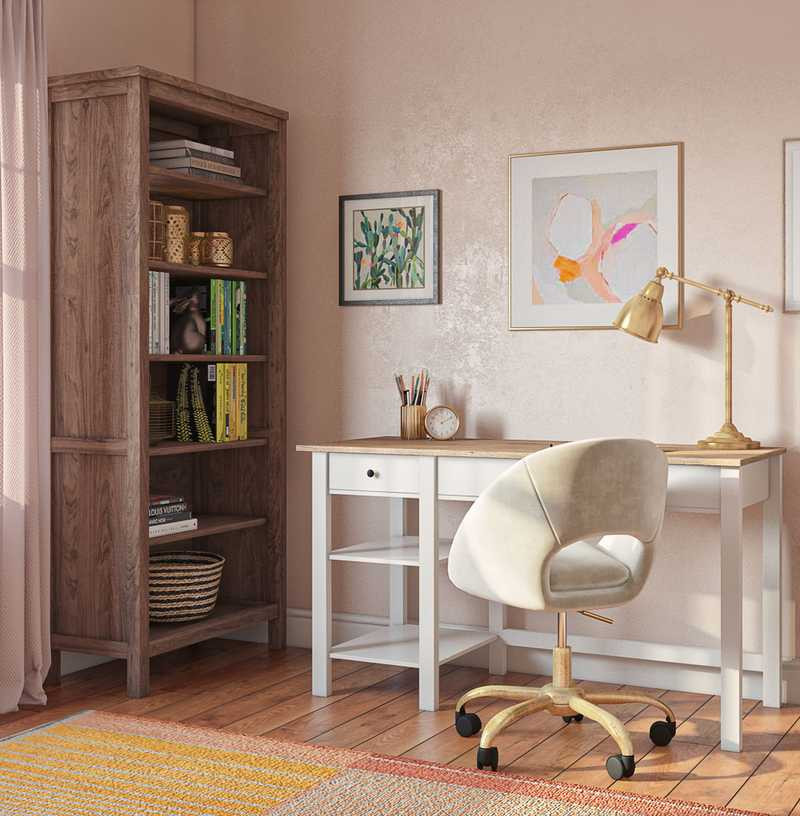 Eclectic, Bohemian Office Design by Havenly Interior Designer Samantha